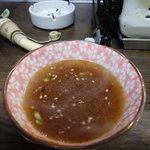 ホルモン焼 やしま - 待望のタレのスープ割り!