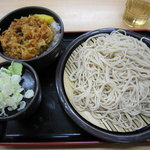ゆで太郎 - かきあげ丼セット500円