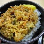 ゆで太郎 - ミニかきあげ丼