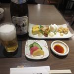 53332432 - 晩酌セット 2000円プラス瓶ビール 650円(2016.5)