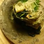 菊乃井 - サザエの殻がよく見える角度への挑戦(笑)