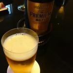 菊乃井 - プレモル!グラスが菊乃井で作らせてはるもので       うっすいグラス!       口当たりめちゃめちゃ良いで!