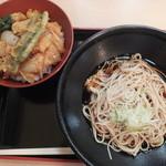 そば処 ことぶき - ばら天丼セット(2016年7月)