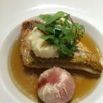 ル モマン - 甘鯛のうろこ焼きのスープドポワソン
