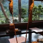囲炉里庵 花水木 - 焼物:鮎塩焼