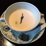 囲炉里庵 花水木 - 椀代り:新じゃが冷製スープ