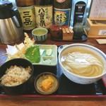 うどん 蔵十 - ひやかけ定食天ぷら三種