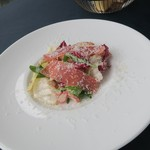 アロマクラシコ - ほろ苦野菜のインサラータ 生ハム パルメザンチーズ アロマクラシコスタイル