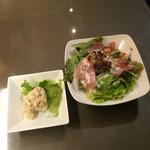 道頓堀ゼロカフェ - ポテサラ シーザーサラダ