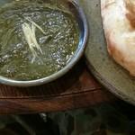 インド料理 シャティ - ほうれん草とひき肉のカレー(1回目訪問時撮影)