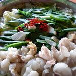 てけてけ - 料理写真:当店のもつ鍋は味噌、醤油、塩、赤味噌、柚子塩、辛いもつ鍋の6種類