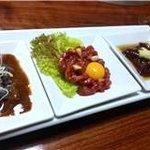 平壤亭 - 生肉3種盛