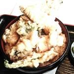 53350476 - 鮎の天婦羅丼と鮎の塩焼き