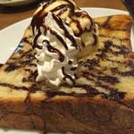 はな火 - デニッシュパンのハニートースト バニラアイスのせ(¥450円)