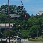 53354740 - 熊本城 修繕の為のクレーンあり