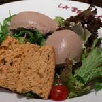 ラ・ベットラ・ダ・オチアイ - 鶏白レバームースサラダ添え