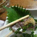 紀八 - 酢締めの鯵、おっき〜のぉ〜♡
