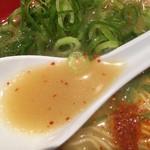 麺屋 青空  - ランチ豚骨らーめん(500円)スープ