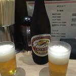 長浜ラーメン 博多っ子 - ビール 500円