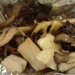 鮨棗 - 舞茸とホタテのホイル焼き
