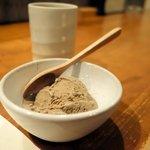 串かつ おこし - ほうじ茶アイス