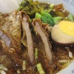 台湾客家料理 新竹 - 肉部は固いのね