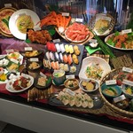 chiso-zammai - 和洋中。目玉はカニと握り寿司