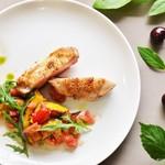 アナログ渋谷 - 博多地鶏のステーキ~南瓜のローストと夏野菜のケッカソース~
