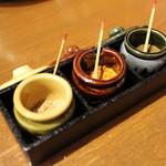 毎日!北海道物産展 ネオ炉端 道南農林水産部 - とろける室串に使う味わい変化調味料☆