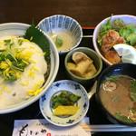 もりのや - 料理写真:日替りランチ(カンパチ山かけ丼)850円(2016.07)