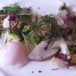 53383360 - 鰆の燻製・瞬間焼き 春野菜のリゾーニのサラダ仕立て