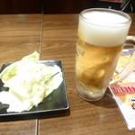 53383414 - 突き出し、生ビール