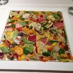 """53384366 - """" レスプリカ遊園地 """" 旬の野菜を様々な形に変えて                       鱧を3種の調理法で《ポッシェ・炭焼き・フリット》♪"""