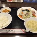 上海酒家 軼菁飯店 - 八宝菜定食(890円)