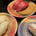 千漁 - まぐろ赤身 たこ いか三種盛り