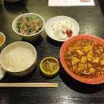 53389150 - 日替わりランチ(写真+スープ・デザート)