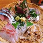 浜焼 魚松 - 浜焼 魚松 @西葛西 刺身定食 刺し盛り
