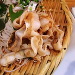 浜焼 魚松 - 浜焼 魚松 @西葛西 刺身定食 帆立の紐