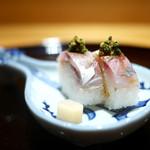 豪龍久保 - 鯵の棒寿司