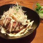 炭焼きビストロ楽 - 和牛ローストビーフ丼(1000円)