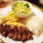 53394910 - 牛肉リブロースステーキ!!(●´ω`●)
