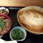 瀬戸内製麺710 - ひやかけ&牛飯セット