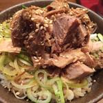 三田製麺所 - 肉ネギ飯