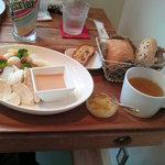 5340926 - ランチの温野菜サラダセット