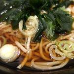 名代 富士そば - ミニこうや豆腐カツ丼セット(500円)