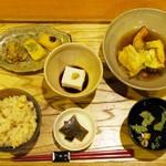 中央食堂・さんぼう - 胡麻豆腐湯葉巻揚げ定食