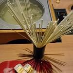 うおまん - 彩セット、押し寿司と稲庭うどん