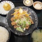 和食処 八田 - 生姜焼きセット