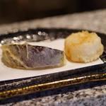 天ぷら うらかみ - 茄子・帆立貝柱