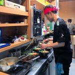 肉玉そば おとど - 店内厨房 2016.7.11